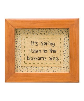 'It's Spring' Stitched Sign