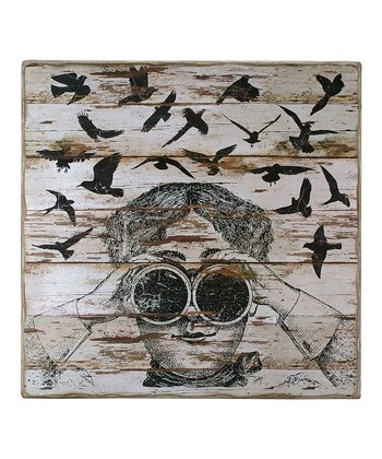 Square Binocular Birder Box Sign