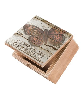 'Be Grateful' Butterfly Box
