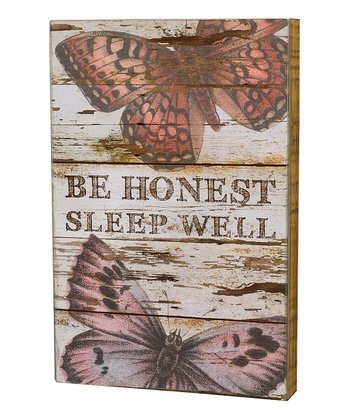 'Be Honest' Box Sign
