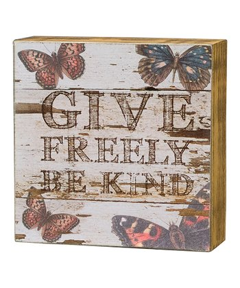 'Give Freely' Box Sign