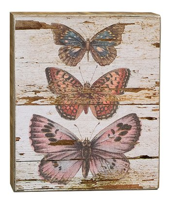 Stacked Butterflies Box Sign