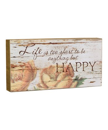 'Anything But Happy' Box Sign