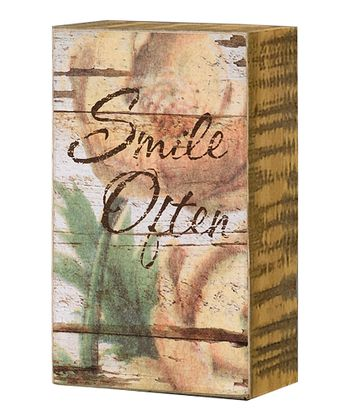 'Smile Often' Box Sign