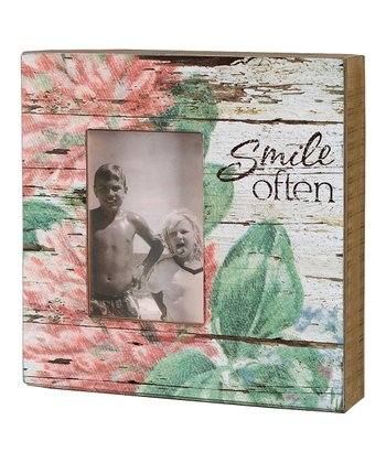 'Smile Often' Floral Box Frame