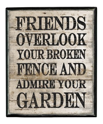 'Friends Overlook' Box Sign