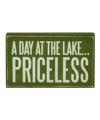 Green 'Priceless' Box Sign
