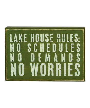 Green 'No Worries' Box Sign