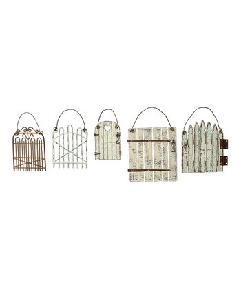 Rustic Gate Ornament Set