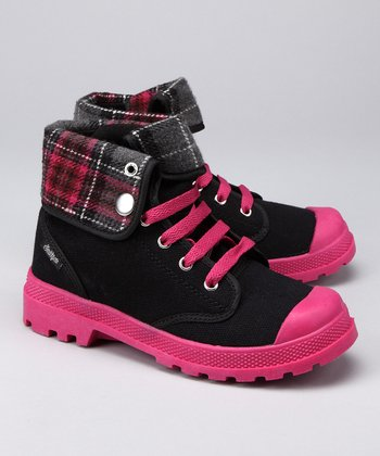 Southpole Black & Berry Combat Boot