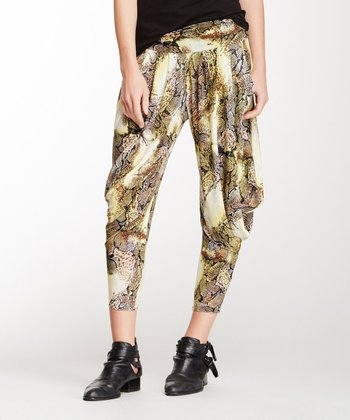Black & Yellow Leona Harem Pants