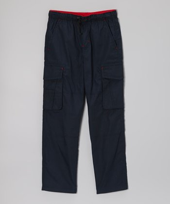 Navy Bungee Cargo Pants - Boys