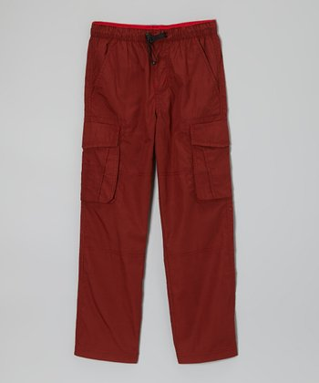 Red Bungee Cargo Pants - Boys
