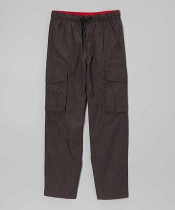Gray Bungee Cargo Pants - Boys