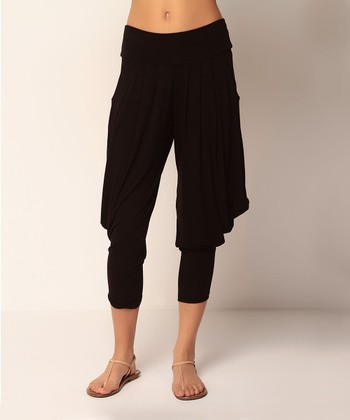 Black Leona Harem Pants
