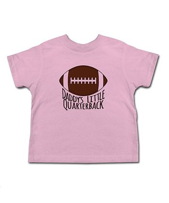 Light Pink 'Daddy's Little Quarterback' Tee - Toddler & Kids