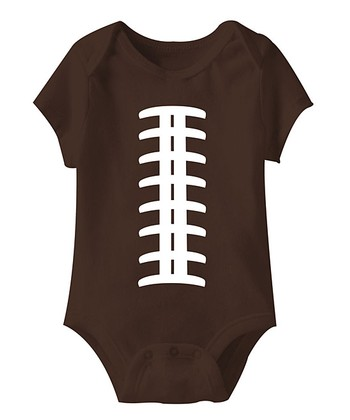 Brown Football Stitch Bodysuit - Infant