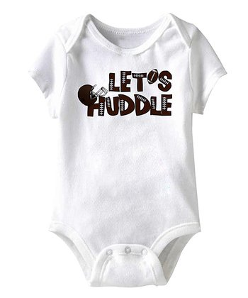 White 'Let's Huddle' Bodysuit - Infant