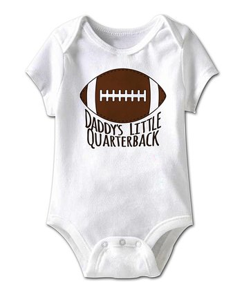 White 'Daddy's Little Quarterback' Bodysuit - Infant