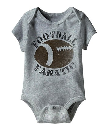 Heather Gray 'Football Fanatic' Bodysuit - Infant