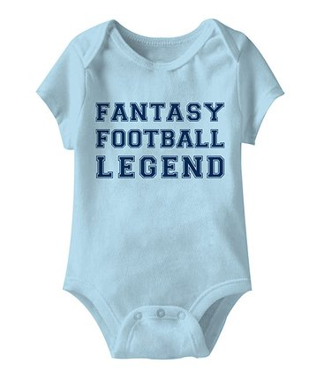Light Blue 'Fantasy Football League' Bodysuit - Infant