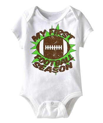 White 'My First Football Season' Bodysuit - Infant