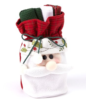 Jolly Santa Dish Towel Gift Set