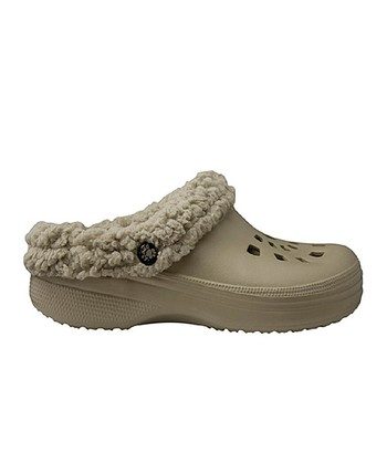 Tan Fleece Clog