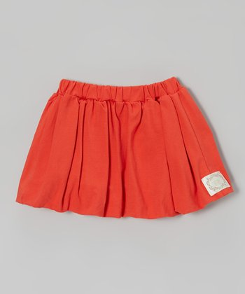 Vintage Red Bubble Skirt - Infant, Toddler & Girls