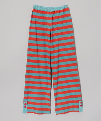 Red Stripe Wide Leg Pants - Infant & Girls