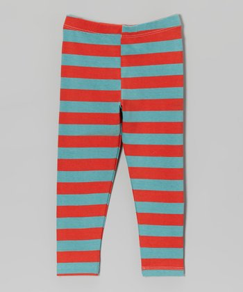 Vintage Red Stripe Perfection Leggings - Infant & Girls