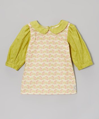 Spanish Moss Green Peter Pan Top - Infant & Girls