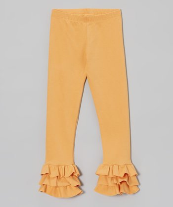 Apricot Triple Ruffle Leggings - Infant, Toddler & Girls