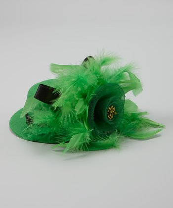 Green Feather Bianca Fascinator