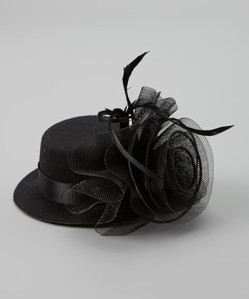 Black Feather Mara Fascinator