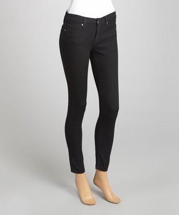 Black Five-Pocket Slim-Fit Jeans