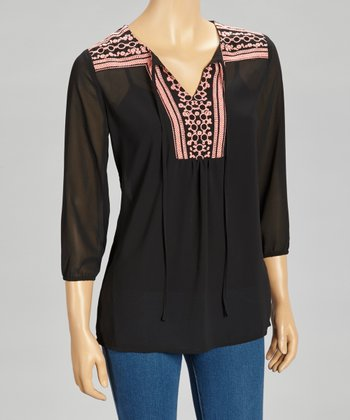 Black Embellished Tunic