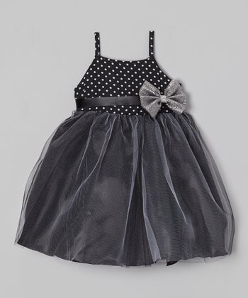 Black & White Polka Dot Bianca Dress - Toddler & Girls