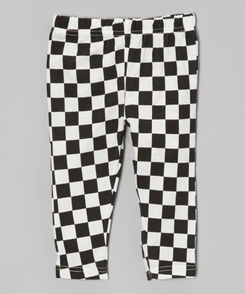 Black & White Checkerboard Leggings - Infant, Toddler & Girls