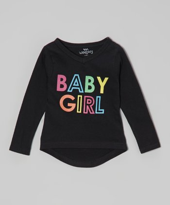 Anthracite 'Baby Girl' Tee - Infant, Toddler & Girls