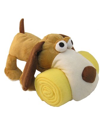 Brown Puppy Plush Toy & Blanket