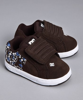 Dark Chocolate Court Graffik V2 Sneaker - Toddler