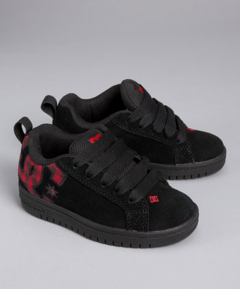 Black & Red Court Graffik SE Sneaker - Toddler