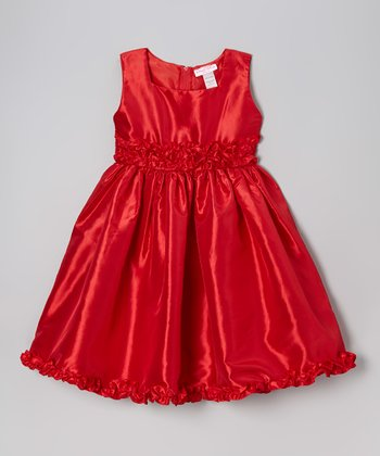 Red Carnation Dress - Toddler & Girls