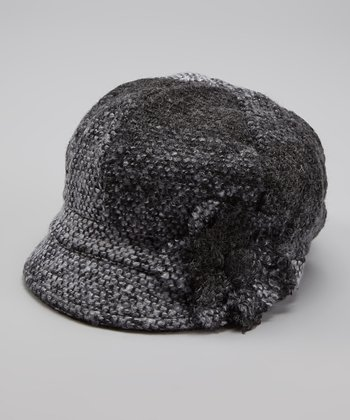 Dark Gray Newsboy Cap