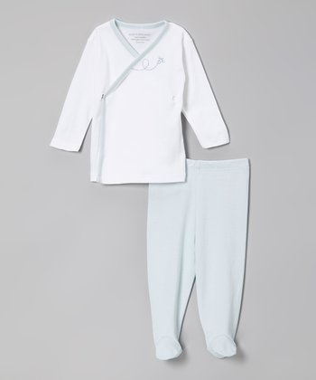 Sky Bee Organic Wrap Top & Footie Pants
