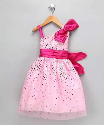 Pink Glimmer Dress - Toddler & Girls