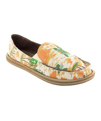 Orange Floral Donna Holiday Slip-On Shoe - Women
