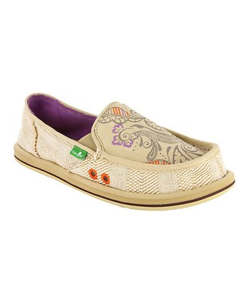 Tan Scribble Slip-On Shoe - Women