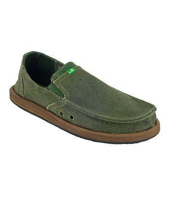 Olive Rasta Pouch Slip-On Shoe - Men
